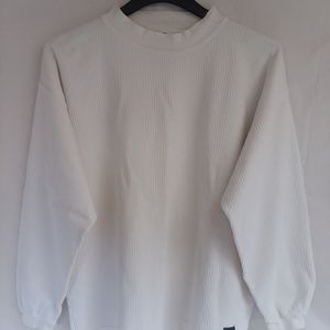 Mens soft thick thermal pull over shirt sz L